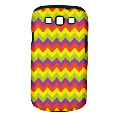 Colorful Zigzag Stripes Background Samsung Galaxy S Iii Classic Hardshell Case (pc+silicone) by Simbadda