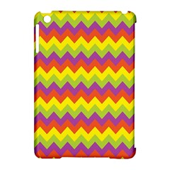 Colorful Zigzag Stripes Background Apple Ipad Mini Hardshell Case (compatible With Smart Cover) by Simbadda