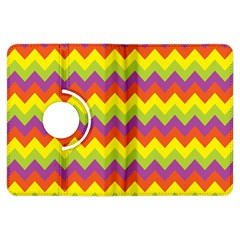 Colorful Zigzag Stripes Background Kindle Fire Hdx Flip 360 Case