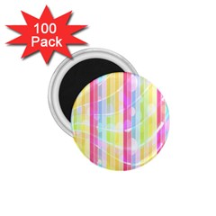 Abstract Stripes Colorful Background 1 75  Magnets (100 Pack)  by Simbadda