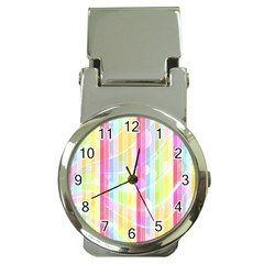 Abstract Stripes Colorful Background Money Clip Watches by Simbadda