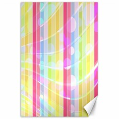 Abstract Stripes Colorful Background Canvas 24  X 36  by Simbadda