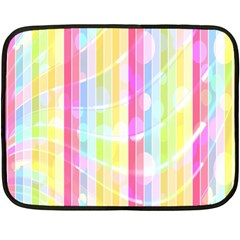 Abstract Stripes Colorful Background Double Sided Fleece Blanket (mini)  by Simbadda