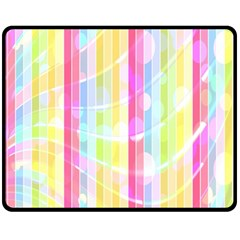 Abstract Stripes Colorful Background Fleece Blanket (medium)  by Simbadda