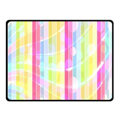Abstract Stripes Colorful Background Fleece Blanket (small) by Simbadda