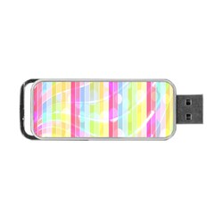 Abstract Stripes Colorful Background Portable Usb Flash (two Sides) by Simbadda