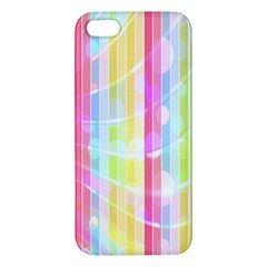 Abstract Stripes Colorful Background Apple Iphone 5 Premium Hardshell Case by Simbadda
