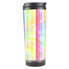 Abstract Stripes Colorful Background Travel Tumbler by Simbadda