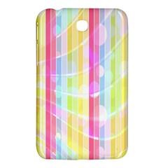 Abstract Stripes Colorful Background Samsung Galaxy Tab 3 (7 ) P3200 Hardshell Case  by Simbadda