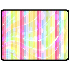 Abstract Stripes Colorful Background Double Sided Fleece Blanket (large)  by Simbadda