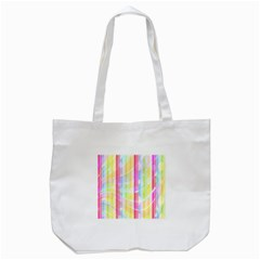 Abstract Stripes Colorful Background Tote Bag (white) by Simbadda