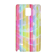 Abstract Stripes Colorful Background Samsung Galaxy Note 4 Hardshell Case by Simbadda
