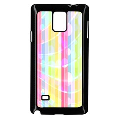 Abstract Stripes Colorful Background Samsung Galaxy Note 4 Case (black) by Simbadda