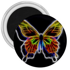 Fractal Butterfly 3  Magnets by Simbadda