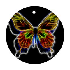 Fractal Butterfly Ornament (round) by Simbadda
