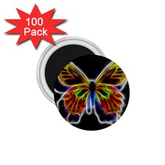 Fractal Butterfly 1 75  Magnets (100 Pack)  by Simbadda