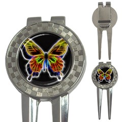 Fractal Butterfly 3 In 1 Golf Divots by Simbadda