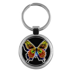 Fractal Butterfly Key Chains (round)  by Simbadda