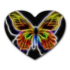 Fractal Butterfly Heart Mousepads by Simbadda