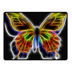 Fractal Butterfly Fleece Blanket (small) by Simbadda
