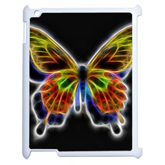Fractal Butterfly Apple Ipad 2 Case (white) by Simbadda