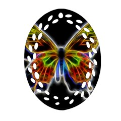 Fractal Butterfly Ornament (oval Filigree) by Simbadda