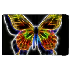 Fractal Butterfly Apple Ipad 2 Flip Case by Simbadda