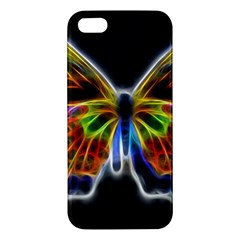 Fractal Butterfly Iphone 5s/ Se Premium Hardshell Case by Simbadda