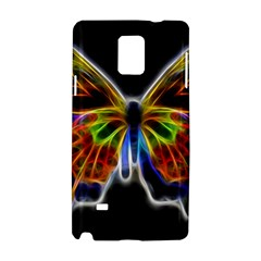 Fractal Butterfly Samsung Galaxy Note 4 Hardshell Case by Simbadda