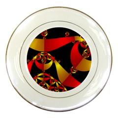 Fractal Ribbons Porcelain Plates by Simbadda