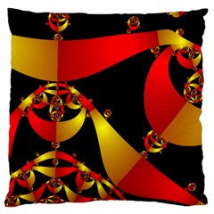 Fractal Ribbons Large Cushion Case (two Sides) by Simbadda