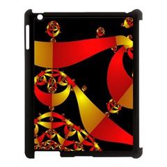 Fractal Ribbons Apple iPad 3/4 Case (Black) by Simbadda