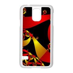Fractal Ribbons Samsung Galaxy S5 Case (white) by Simbadda