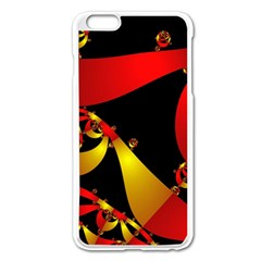 Fractal Ribbons Apple Iphone 6 Plus/6s Plus Enamel White Case by Simbadda