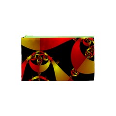 Fractal Ribbons Cosmetic Bag (xs) by Simbadda