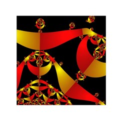 Fractal Ribbons Small Satin Scarf (square) by Simbadda