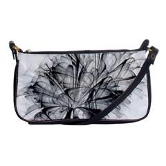 Fractal Black Flower Shoulder Clutch Bags by Simbadda