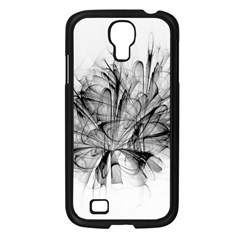 Fractal Black Flower Samsung Galaxy S4 I9500/ I9505 Case (black) by Simbadda