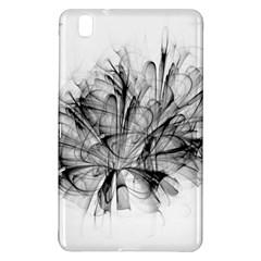 Fractal Black Flower Samsung Galaxy Tab Pro 8 4 Hardshell Case by Simbadda