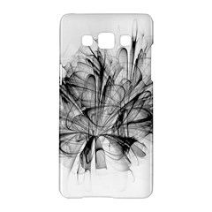 Fractal Black Flower Samsung Galaxy A5 Hardshell Case  by Simbadda