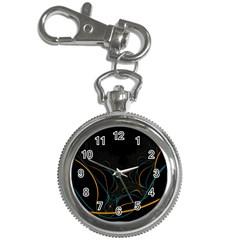 Fractal Lines Key Chain Watches by Simbadda