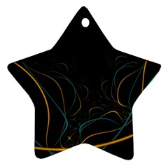 Fractal Lines Star Ornament (two Sides) by Simbadda