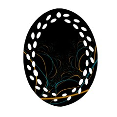 Fractal Lines Oval Filigree Ornament (two Sides) by Simbadda