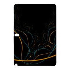 Fractal Lines Samsung Galaxy Tab Pro 12 2 Hardshell Case by Simbadda