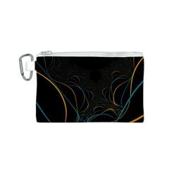 Fractal Lines Canvas Cosmetic Bag (s) by Simbadda