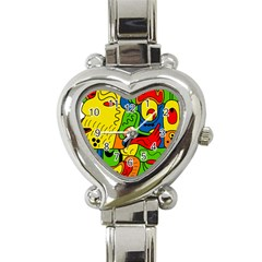 Mexico Heart Italian Charm Watch by Valentinaart