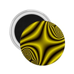 Yellow Fractal 2 25  Magnets by Simbadda