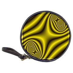 Yellow Fractal Classic 20 Cd Wallets by Simbadda
