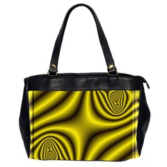 Yellow Fractal Office Handbags (2 Sides)  by Simbadda