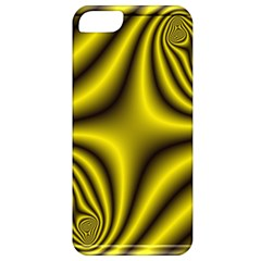 Yellow Fractal Apple Iphone 5 Classic Hardshell Case by Simbadda